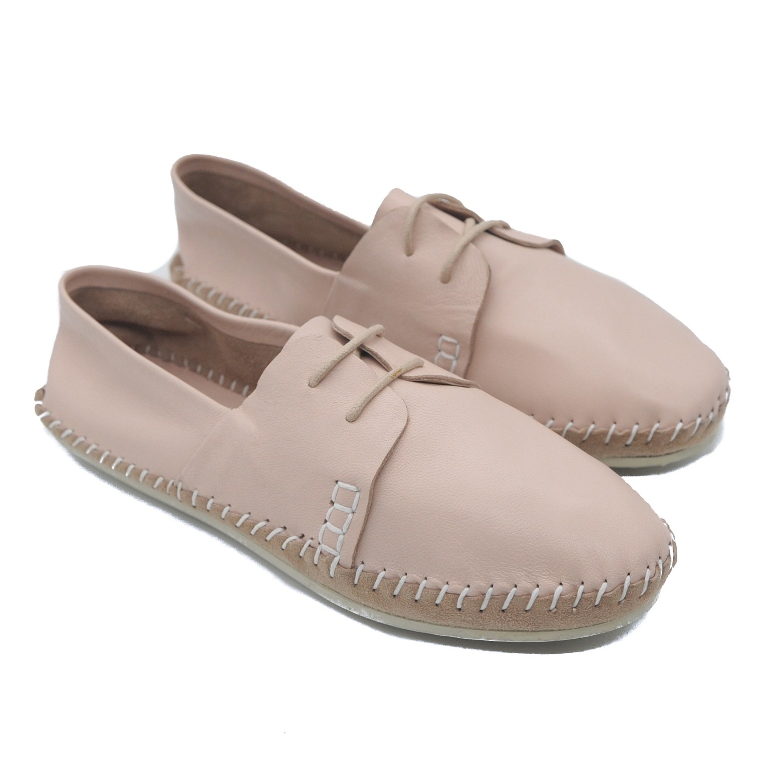 Pegia Art Goya Ladies' Comfort Pink Flat Soft Leather Shoes