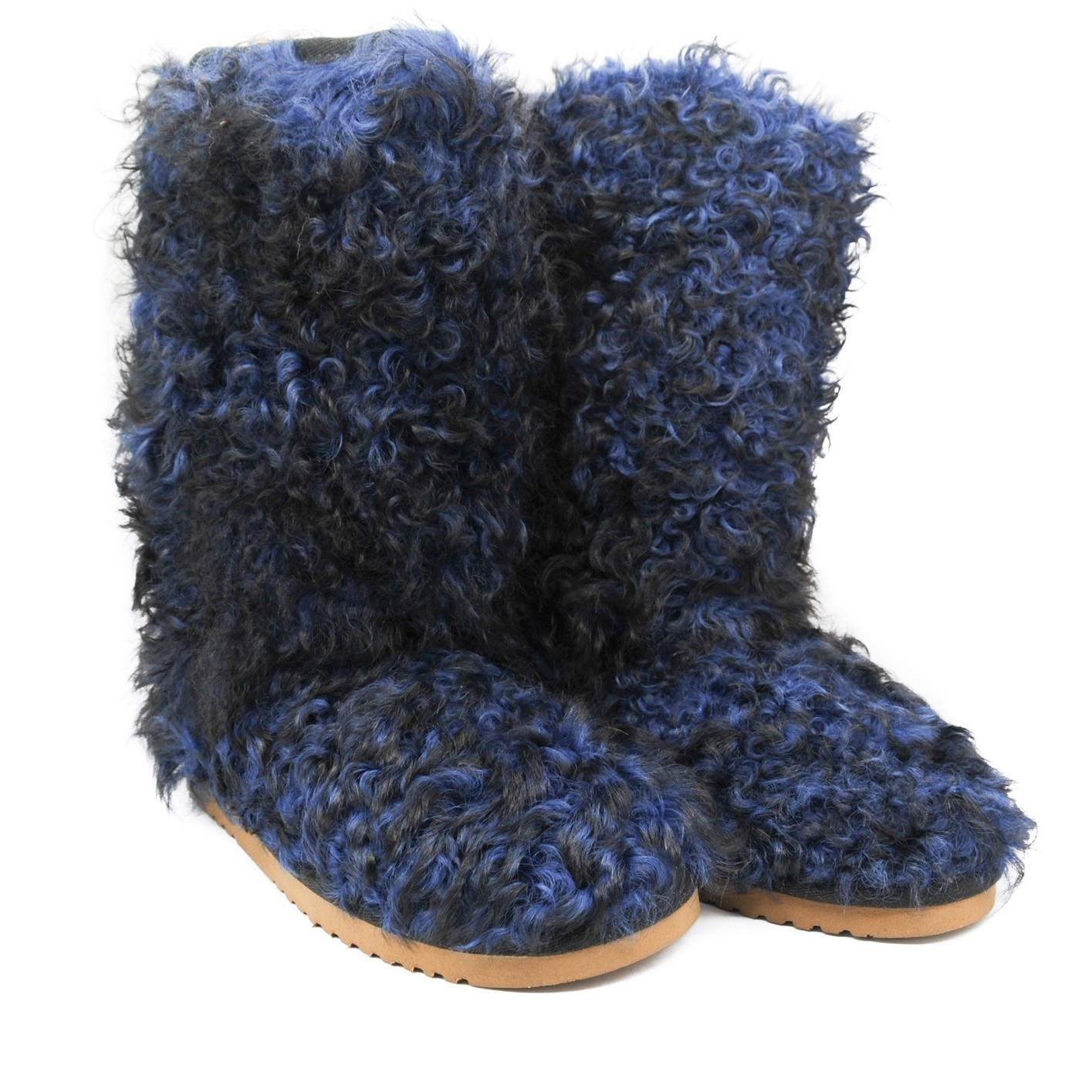 Pegia Woolmarked Warm Winter Fluffy Wool Yeti Style Flat Boots