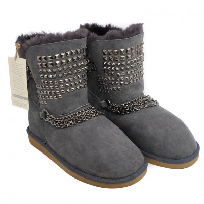 Pegia Soft Suede Ankle Boots with Woolmarked Sheepskin